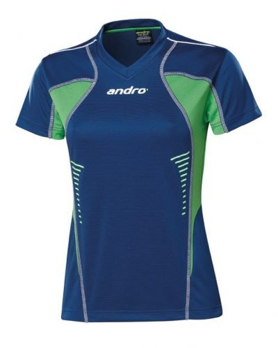 andro Polo Lasca Women Azure Blue/Green 100% IndoorDRY