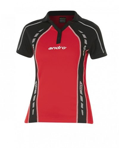 andro Polo Mago Women Red/Blk 100% Polyester IndoorDRY