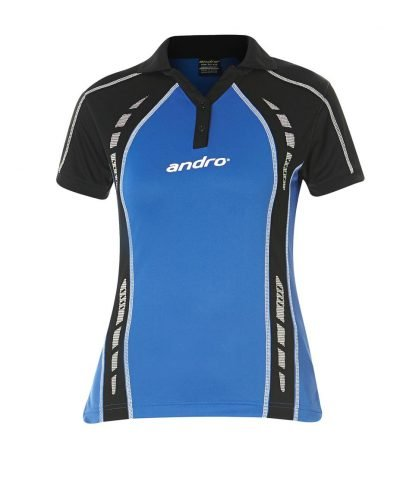andro Polo Mago Women Blue/Blk 100% Polyester IndoorDRY