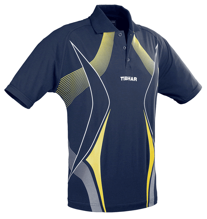 TIBHAR Race Navy/Yellow 100% Polyester