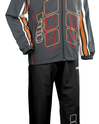 Tibhar Tracksuit Cube Complete Grey/Orange