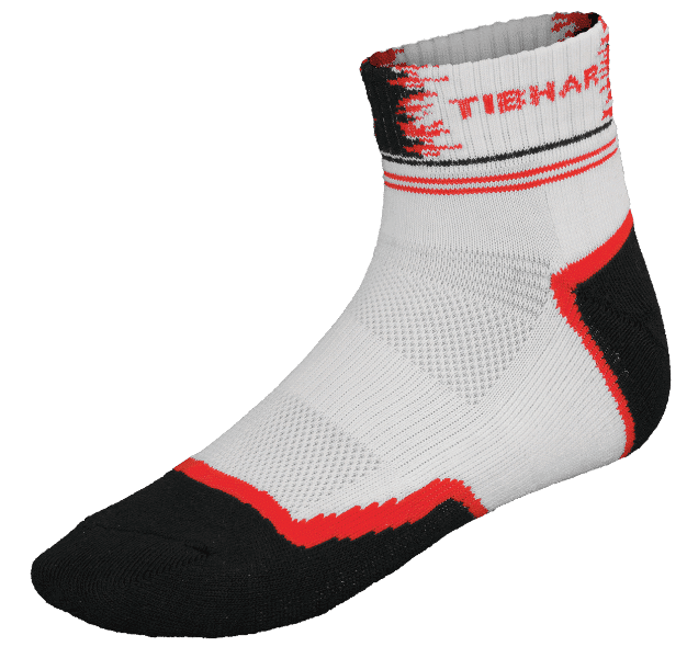 Tibhar Table Tennis Sock Paint Blk/Red