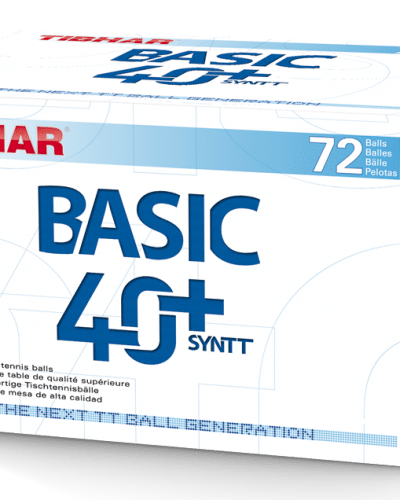 Tibhar Basic 40+ Practice Poly Training, Box 72 - white
