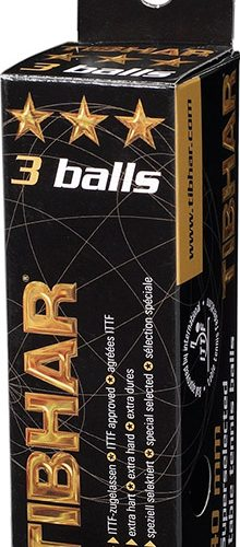 Tibhar 3 *** 40mm Balls Box of 3 ITTF Approved
