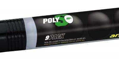 andro training ball * PolyS 40+ cellfree Pack of 9 - white