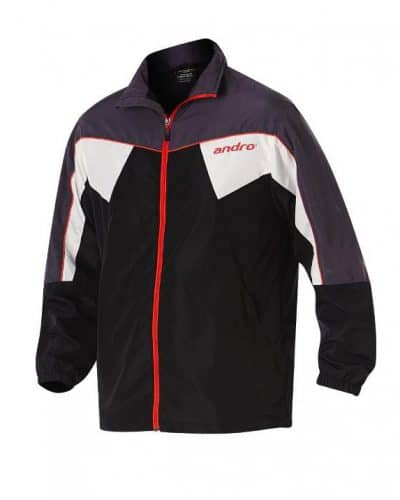 andro Tracksuit Jacket Preston black/grey/red/white