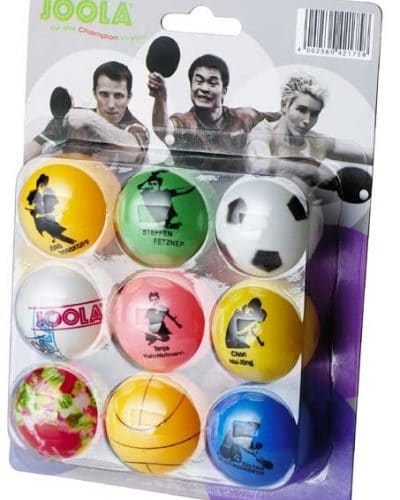Joola Fan Table Tennis fun Balls, pack of 9