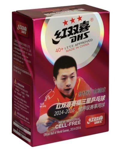 DHS 3 star 40+ Plastic Balls Pack of 6 ITTF Approved