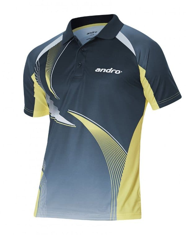 andro-Shirt Kaitos nightblue/yellow 100% Polyester IndoorDRY