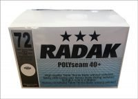 Radak Polyseam 3 star 40+ Plastic Balls, Box of 72