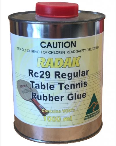 Radak Table Tennis Glue RC29 - 1 Litre Contains Voc's