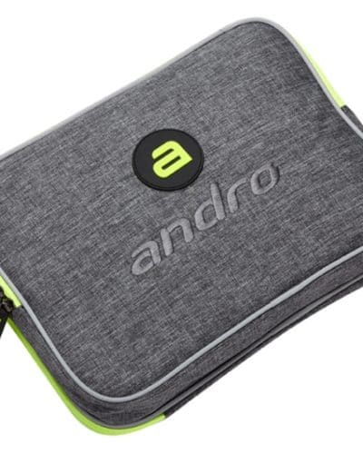 andro Double Bat Wallet Salta, Grey/Neon Green