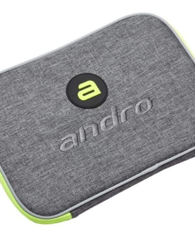 andro Single Bat Wallet Salta, Grey/Neon Green