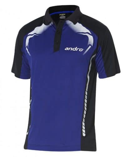 andro Polo Deimos Ink Blue/Blk 100% Polyester IndoorDRY