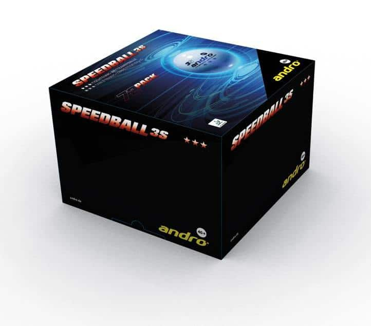 Andro Speedball 3S *** 40+ Plastic Balls Box of 72 ITTF Approved